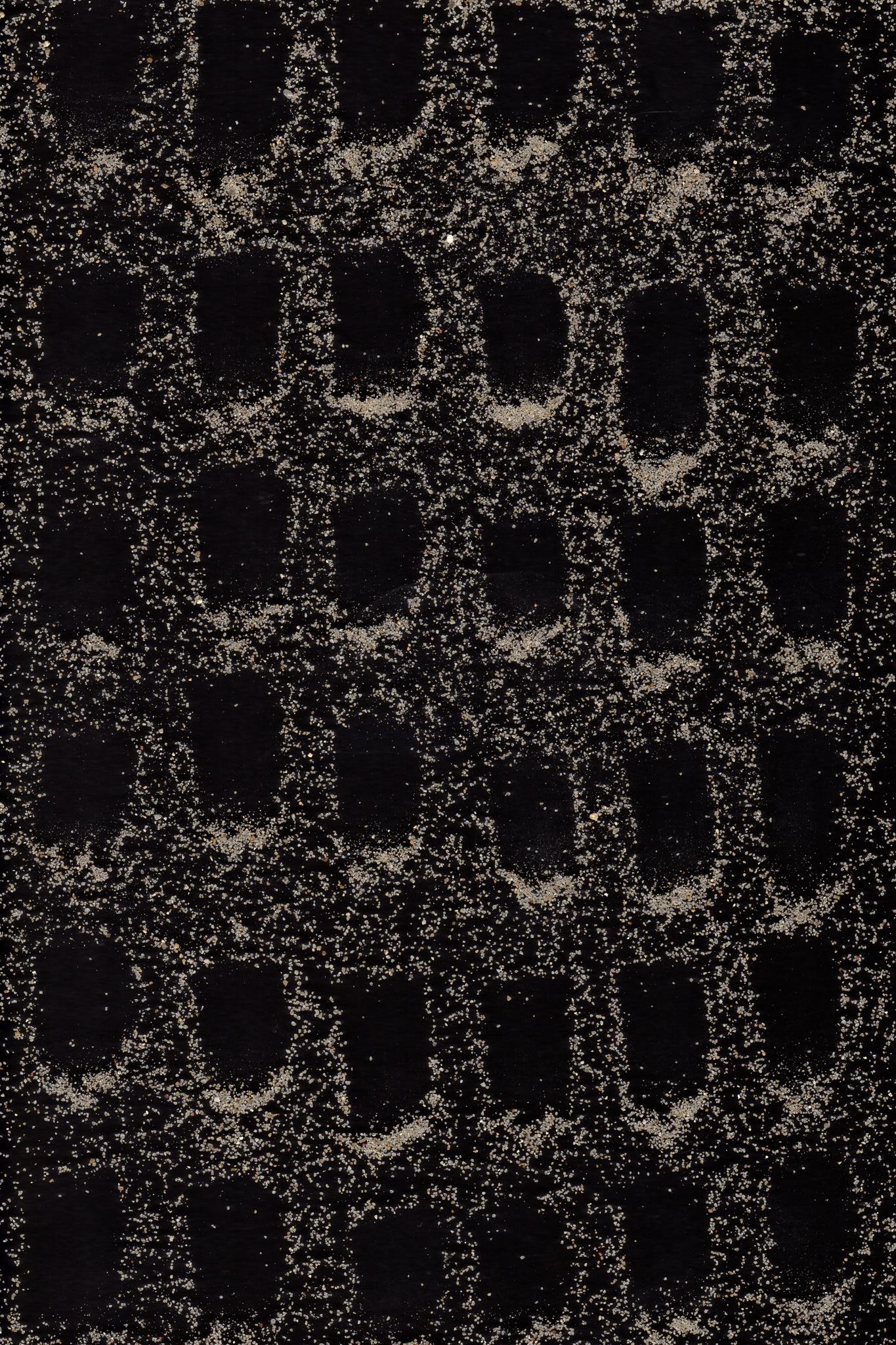 Siebdruck mit Sand, Sabine Müller Funk